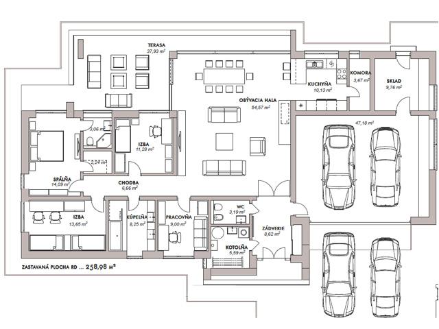 Minimalistický bungalov - Pata