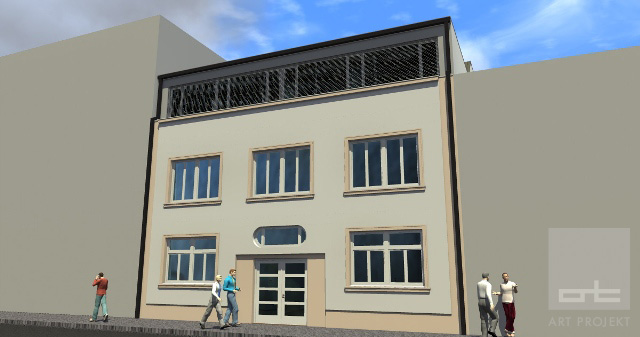Nadstavba Belušovej administratívnej budovy - trnava