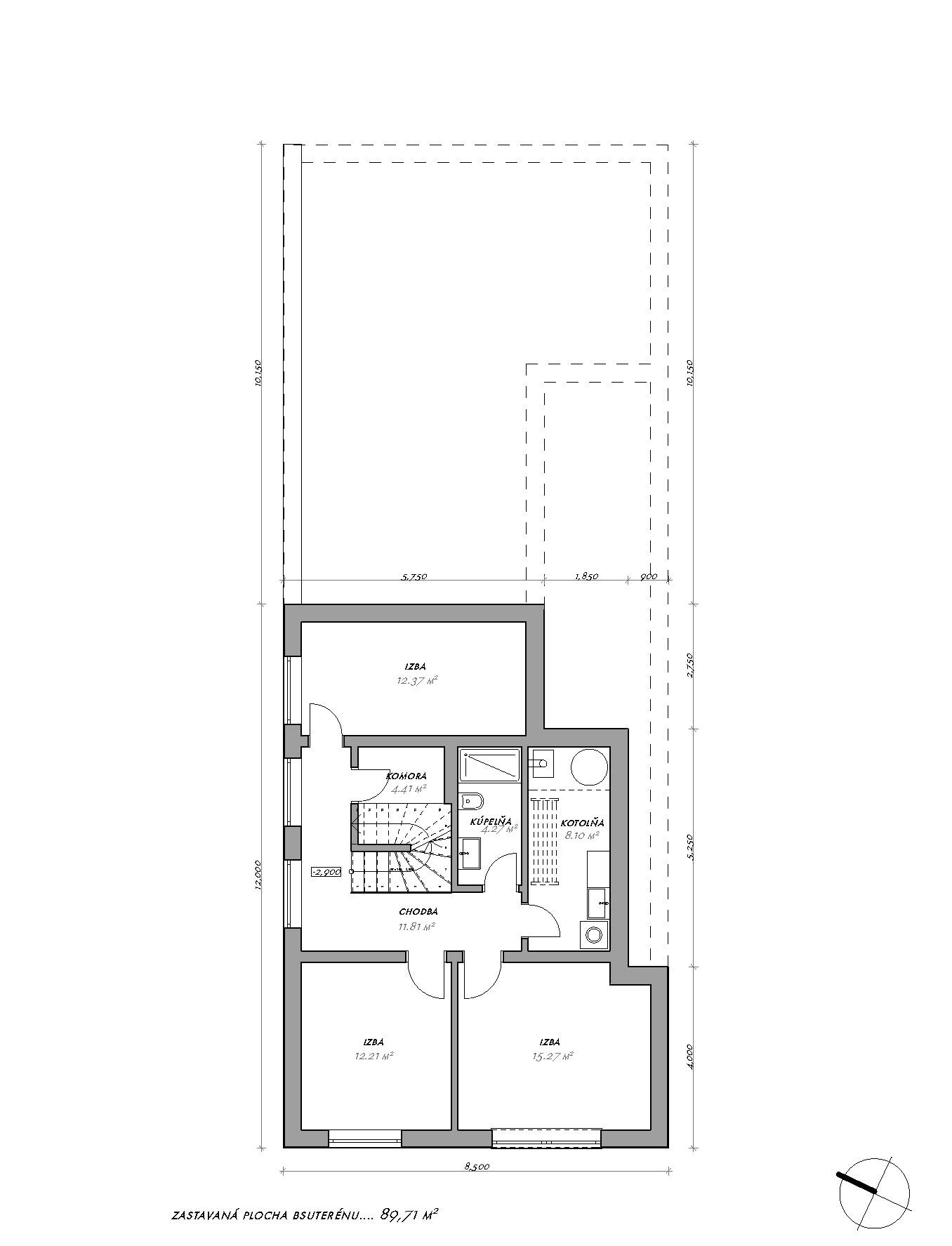 Dom na malom pozemku - Modranka