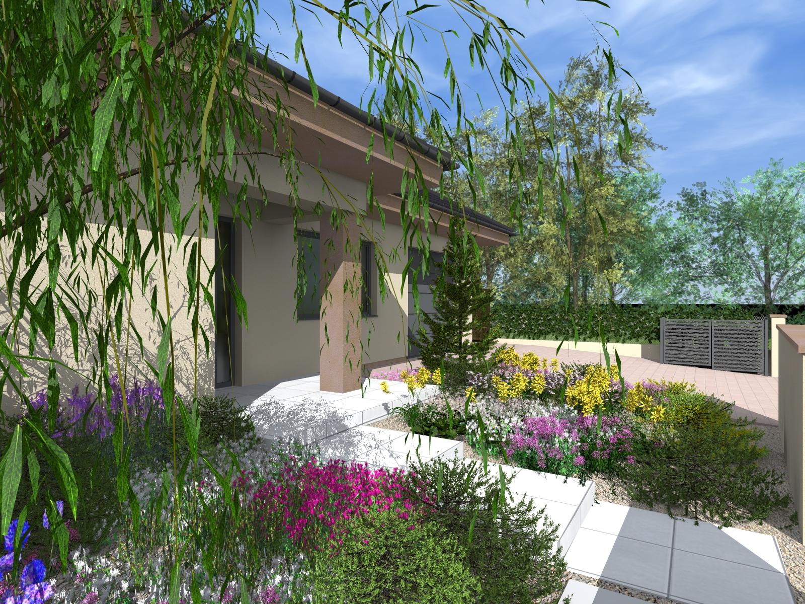 RD Suchá nad Parnou - rekonštrukcia záhrady